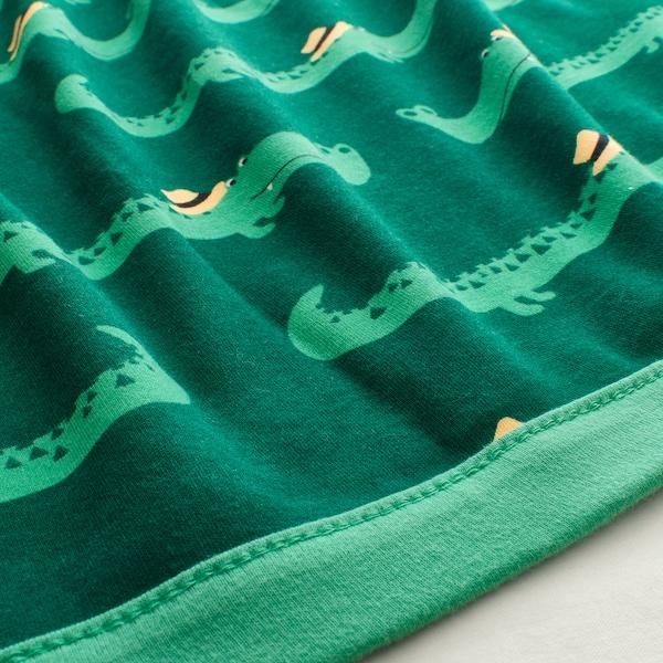 RÖRANDE deka krokodil/zelena 100 cm 80 cm