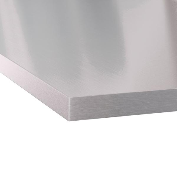 SÄLJAN Radna ploča po mjeri, efekt aluminija/laminat, 45.1-63.5x3.8 cm