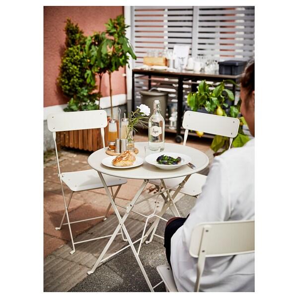 SALTHOLMEN stol i 2 sklopive stolice, vanjski bež