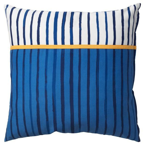SÅNGLÄRKA Ukrasni jastuk, crta/plava narančasta, 50x50 cm