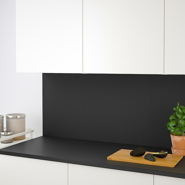 SIBBARP Zidna ploča po mjeri, mat antracit/laminat, 1 m²x1.3 cm