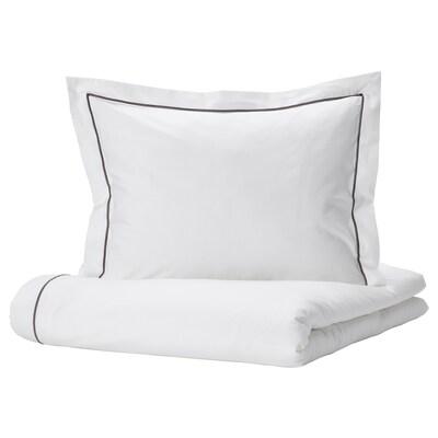 SILVERTISTEL Navlaka za poplun i jastučnica, bijela/tamnosiva, 150x200/50x60 cm