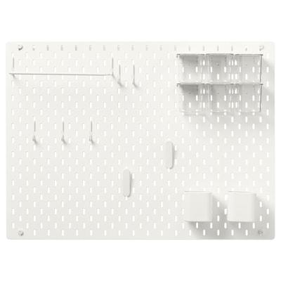 SKÅDIS Komb/rupičasta ploča, bijela, 76x56 cm