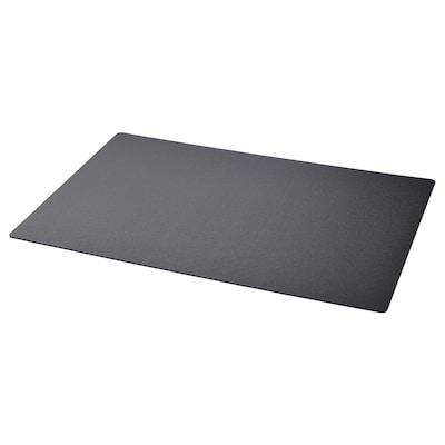SKRUTT Podloga za radni stol, crna, 65x45 cm