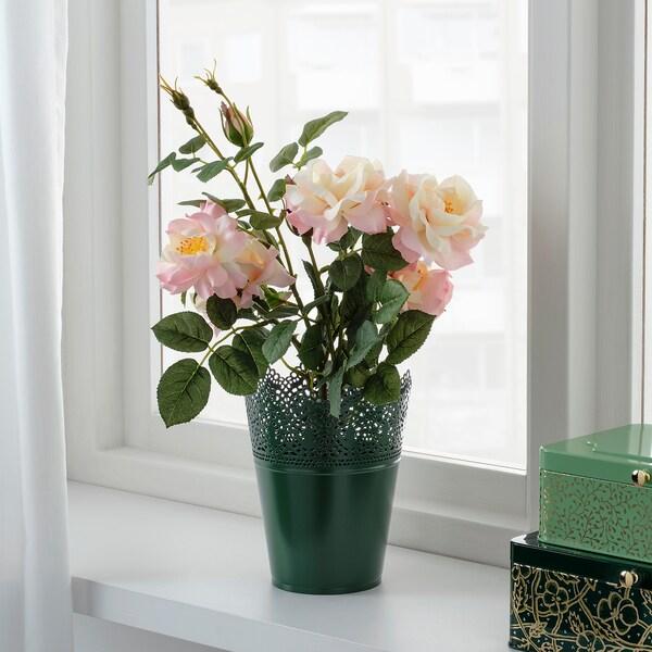 SKURAR tegla za biljke u zatvorenom/na otvorenom tamnozelena 18 cm 15 cm 12 cm 14 cm