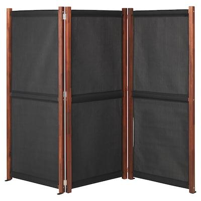 SLÄTTÖ Paravan, vanjski, crna/smeđi bajc, 211x170 cm