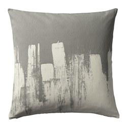 SLÖJGRAN, ukrasna jastučnica, 50x50 cm, siva/bež
