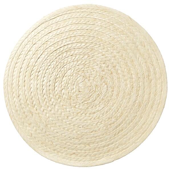 SLUTEN Podmetač za stol, palmin list/prirodna boja, 37 cm