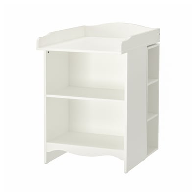 SMÅGÖRA stol za previj/pol za knj s 2 reg bijela 40 cm 81 cm 91 cm 104 cm 60 cm 15 kg