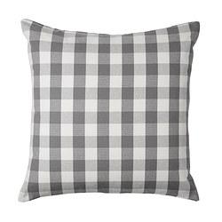 SMÅNATE, ukrasna jastučnica, 50x50 cm, bijela/siva
