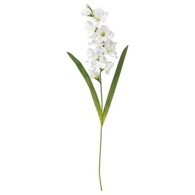 SMYCKA Umjetni cvijet, gladiola/bijela, 100 cm
