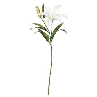 SMYCKA Umjetni cvijet, ljiljan/bijela, 85 cm