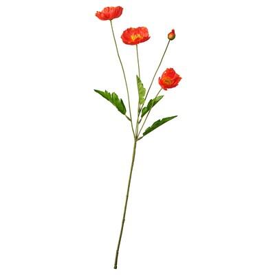 SMYCKA Umjetni cvijet, u zatvorenom/na otvorenom/mak crvena, 60 cm