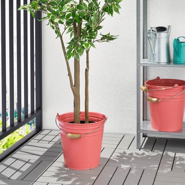SOCKER vjedro/tegla za biljke u zatvorenom/na otvorenom crveno-roza 27 cm 28 cm 27 cm 10 l