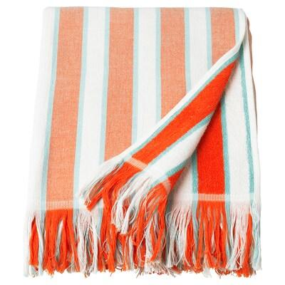 SOLBLEKT ručnik za plažu na crte narančasta 180 cm 100 cm
