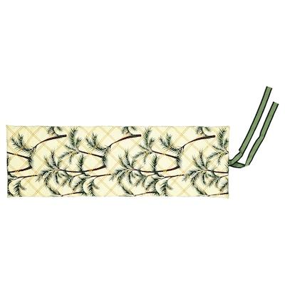 SOLBLEKT jastuk za ležaljku palma uzorak žuta 190 cm 60 cm 5 cm