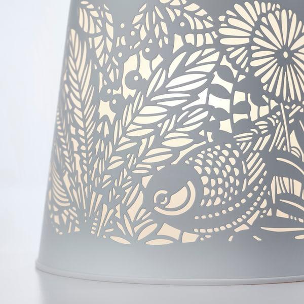SOLSKUR LED stolna lampa, bijela/boja mjeda