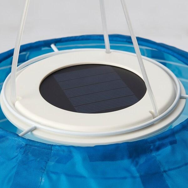 SOLVINDEN LED solarna visilica, na otvorenom/kugla plavi ton, 30 cm