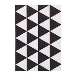 SOMMAR 2018 otirač, 40x60 cm, trokutasti uzorak crna/bijela