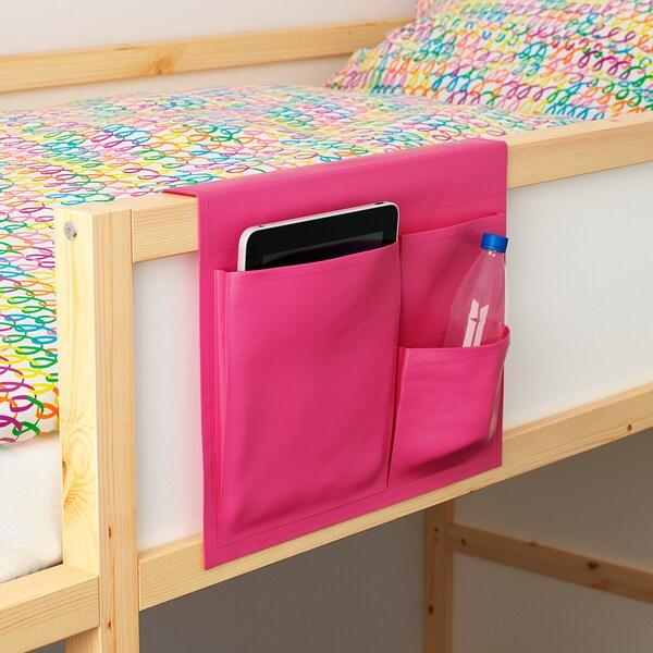 STICKAT Džep za krevet, roza, 39x30 cm