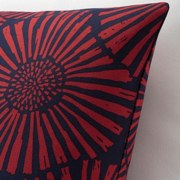 STJÄRNTULPAN Ukrasna jastučnica, tamnoplava/crvena, 50x50 cm
