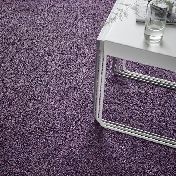 STOENSE tepih, niski flor ljubičasta 195 cm 133 cm 18 mm 2.59 m² 2560 g/m² 1490 g/m² 15 mm