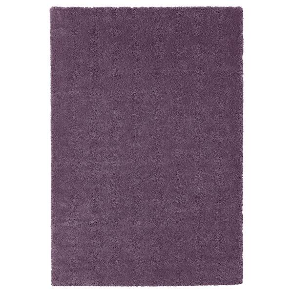 STOENSE Tepih, niski flor, ljubičasta, 133x195 cm