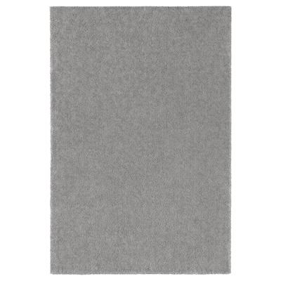 STOENSE Tepih, niski flor, srednje siva, 200x300 cm