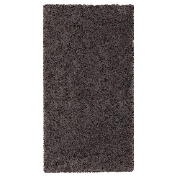 STOENSE Tepih, niski flor, tamnosiva, 80x150 cm