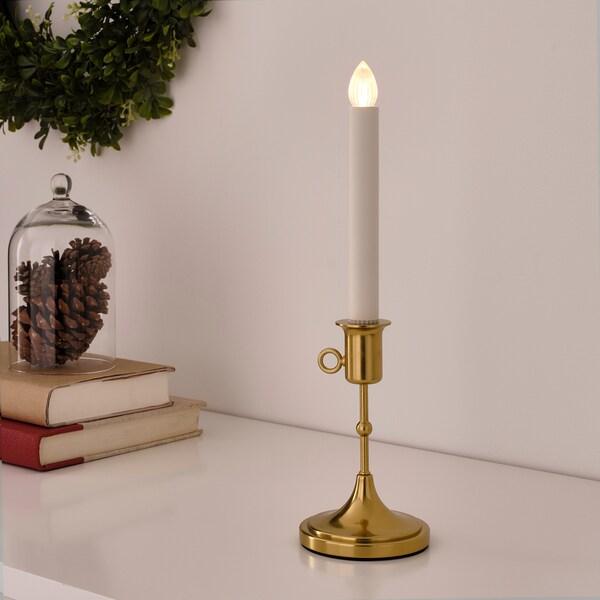 STRÅLA LED držač za svijeću, baterijski, mjed