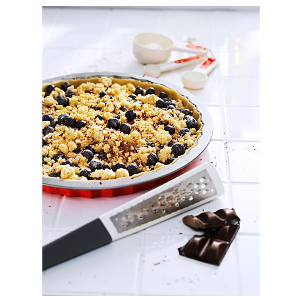 STRÅLANDE Ribež+ručka, nehrđajući čelik/tamnosiva