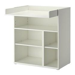 STUVA, stol za previjanje/radni stol, bijela