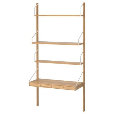 SVALNÄS Zidna kombinacija radnog prostora, bambus, 86x35x176 cm