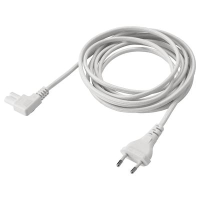 SYMFONISK Strujni kabel, tekstil/bijela, 3.5 m