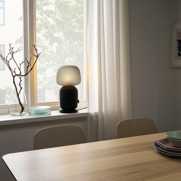 SYMFONISK stolna lampa s WiFi zvučnikom crna 7 W 216 mm 216 mm 401 mm 150 cm