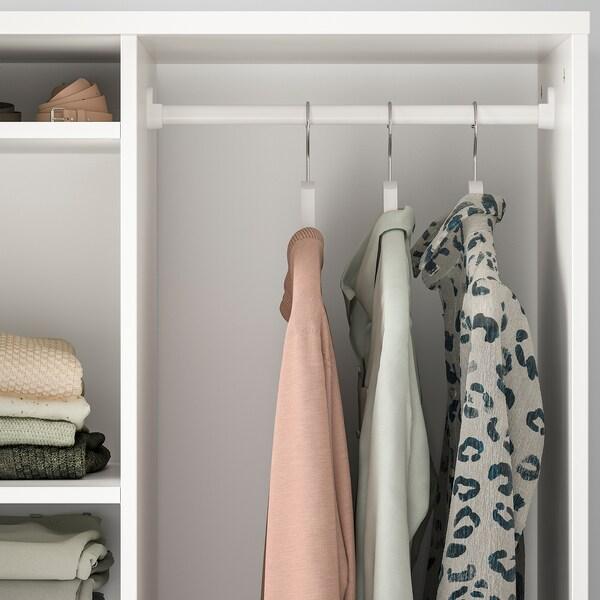 SYVDE Otvorena garderoba, bijela, 80x123 cm