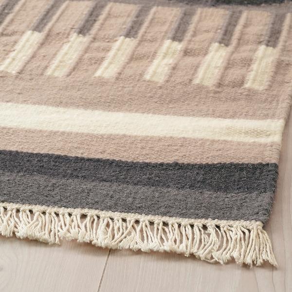 TÅRBÄK tepih, ravno tkanje ručno izrađeno/siva/bež 240 cm 170 cm 4 mm 4.08 m² 1400 g/m²