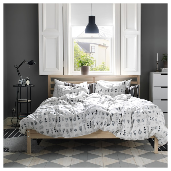 TARVA Okvir kreveta, bor/Lönset, 140x200 cm