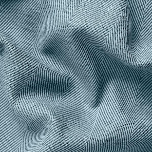 TIBAST Zavjese, 1 par, plava, 145x300 cm