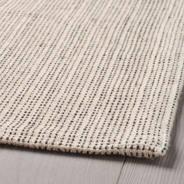 TIPHEDE Tepih, ravno tkanje, prirodna boja/crna, 120x180 cm