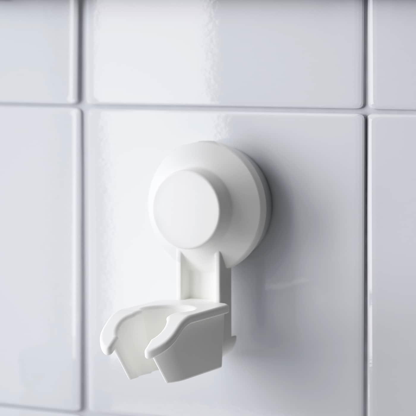 TISKEN držač za ručn mlaznicu tuš s vakuum bijela 6 cm 8 cm 10 cm 3 kg