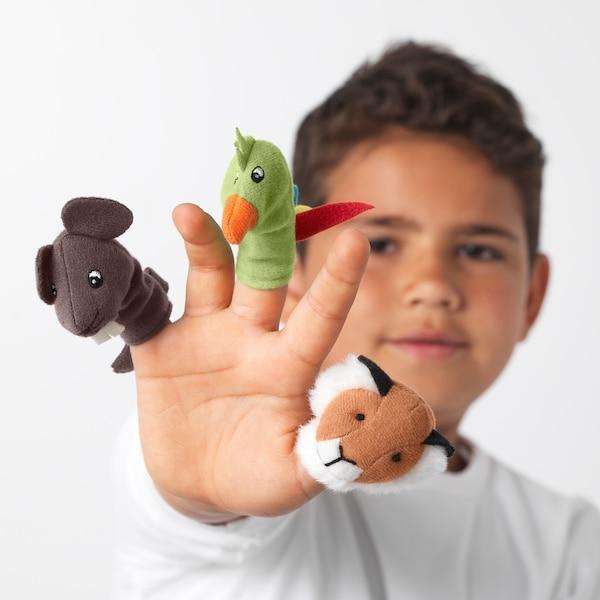 TITTA DJUR Lutka za prst, raznobojno