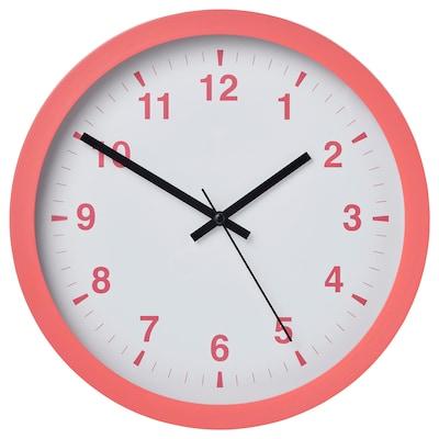 TJALLA Zidni sat, roza, 28 cm