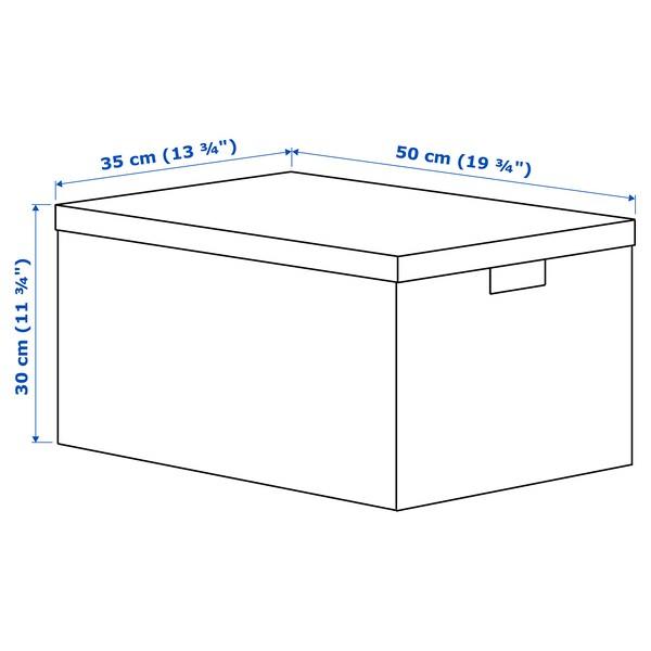 TJENA Kutija za odlaganje s poklopcem, bijela, 35x50x30 cm