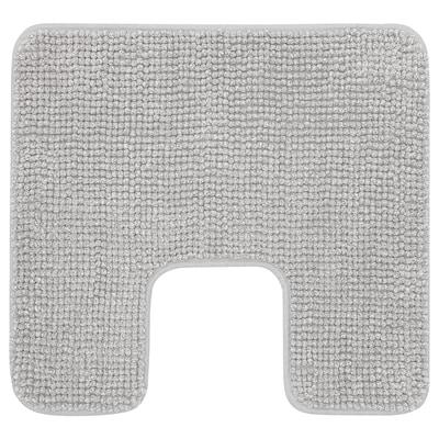 TOFTBO Kupaon tepih,izrez za školjku, sivo-bijela melanž, 55x60 cm