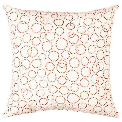 TRÄDASTER Ukrasni jastuk, bijela/narančasta, 40x40 cm