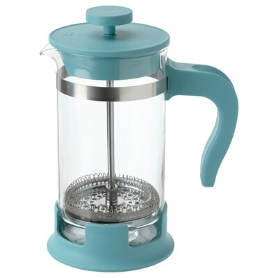 UPPHETTA Kuhalo za kavu/čaj, staklo/tamnotirkizna, 0.4 l