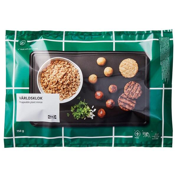 VÄRLDSKLOK Biljno mljeveno meso, oblikujuće zamrznuto, 750 g