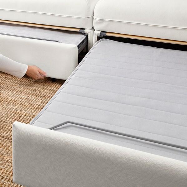 VALLENTUNA Modul četverosjed s 3 sofe na razvl, i odlaganje/Murum/Orrsta bijela/svijetlosiva