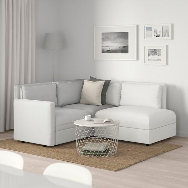 VALLENTUNA Modularni trosjed, s odlaganjem/Orrsta/Murum svijetlosiva/bijela